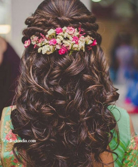 27 Gorgeous Wedding Hairstyles For Long Hair For 2020: 30+ Latest Indian Bridal Wedding Hairstyles Images 2019-2020